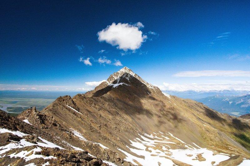 Pioneer Peak from the ridgeline