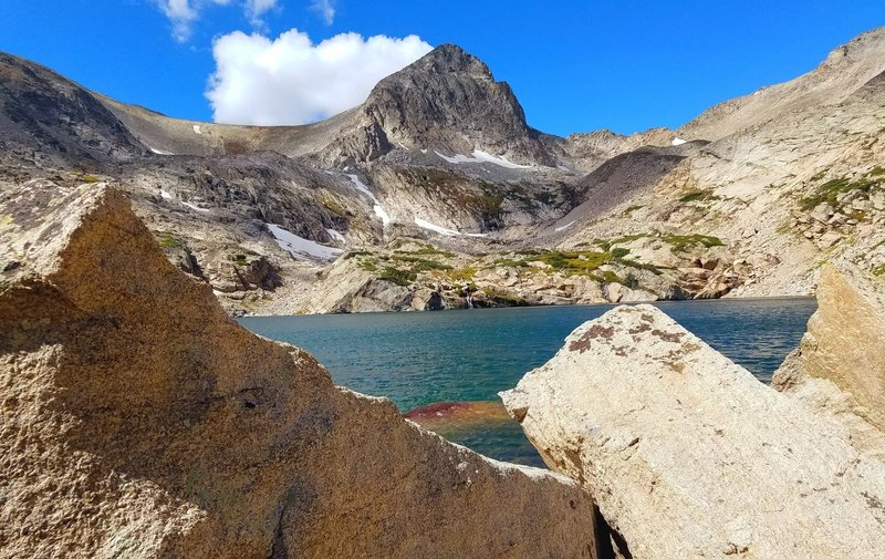 Blue Lake with Mt Toll