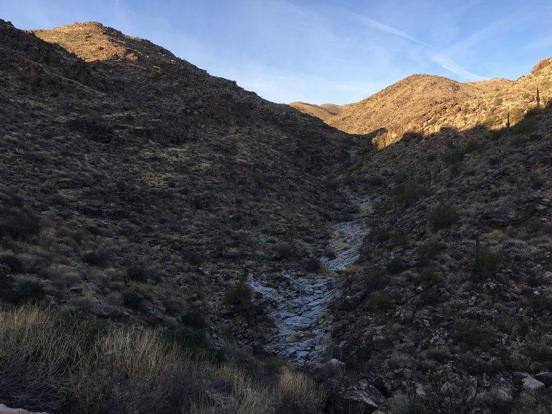 The dry creek below