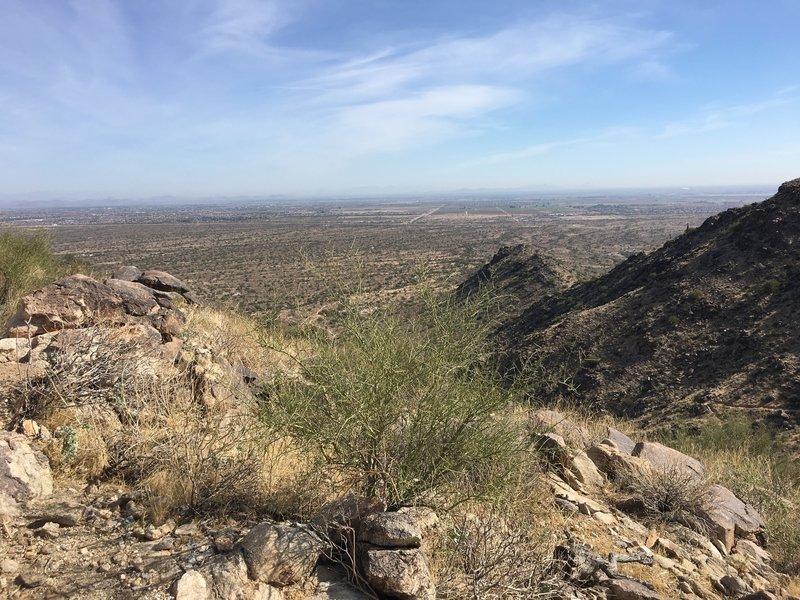 An overlook of western Phoenix