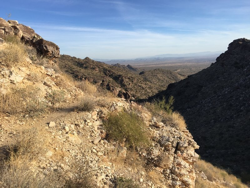 Winding around the bend to Willow Canyon