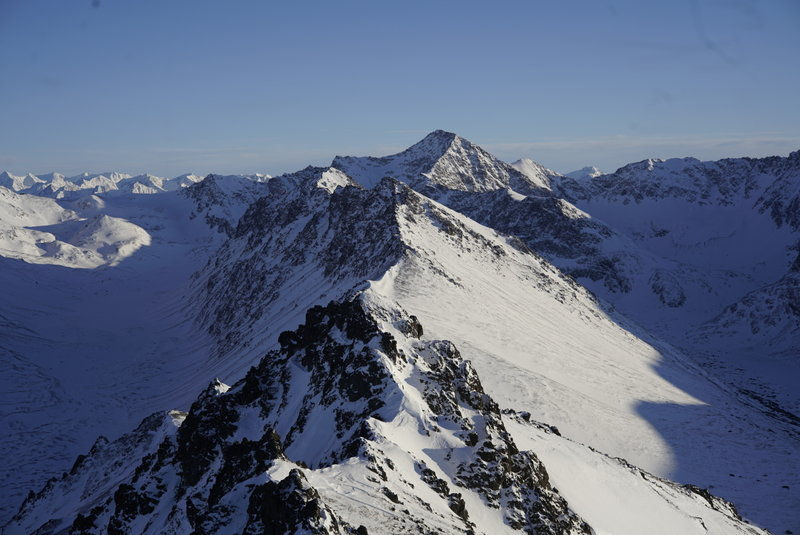 Ridge to Wolverine Peak in January