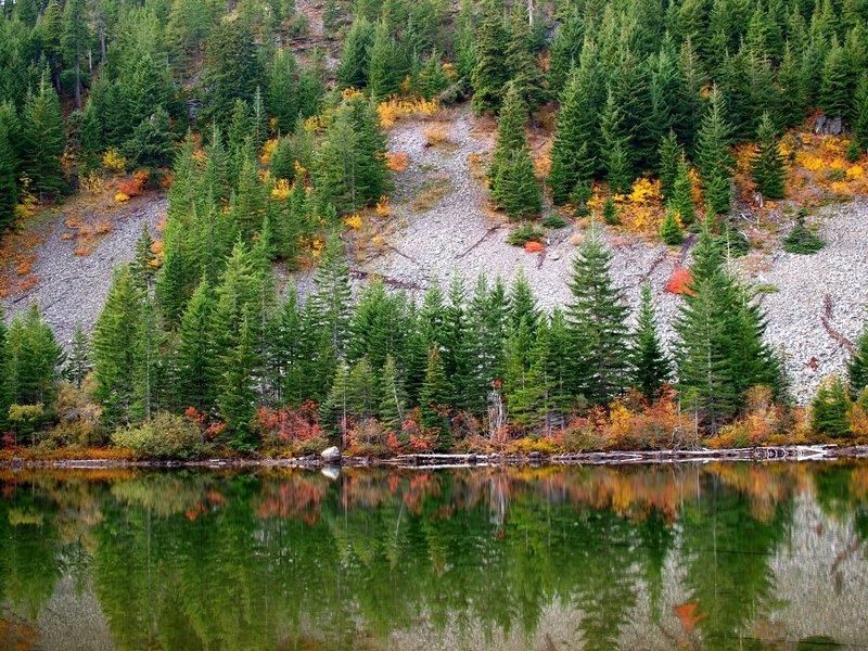 Fall colors at Warren Lake