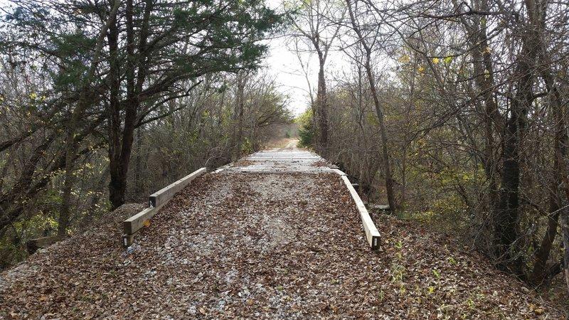 Typical trestle bridge along this section