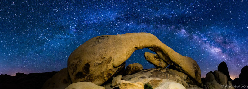 Milky Way over Arch Rock