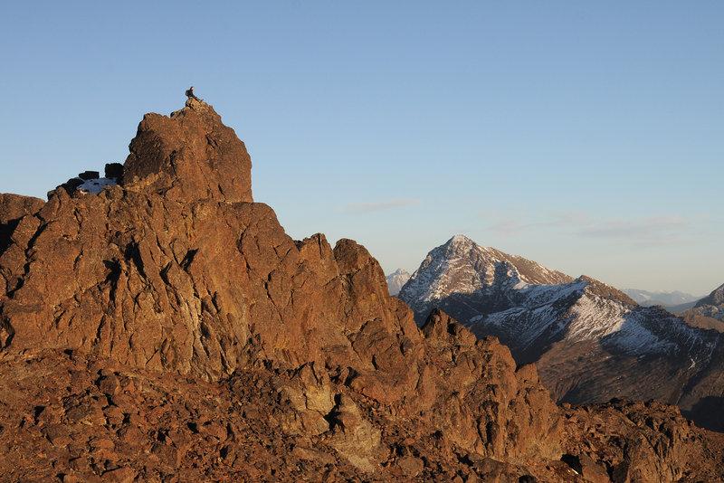 Summit of McHugh Peak. Chugach State Park, Chugach Mountains, Alaska