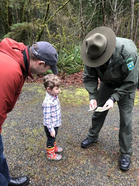 Ranger Charles was incredibly friendly during our visit to Kanaskat-Palmer State Park.