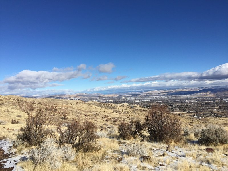 Stellar views of Reno from top of trail.