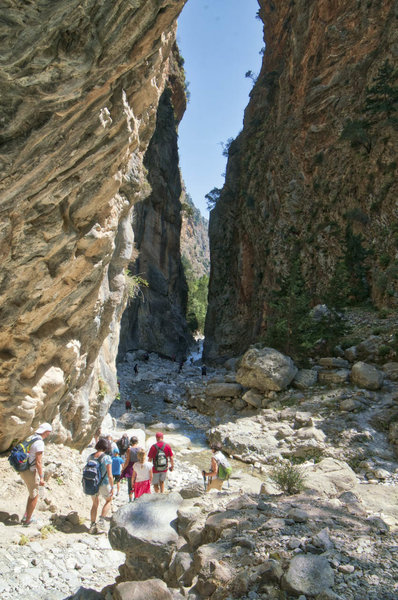 The Iron Gates can't keep the throng of tourists out of the gorge
