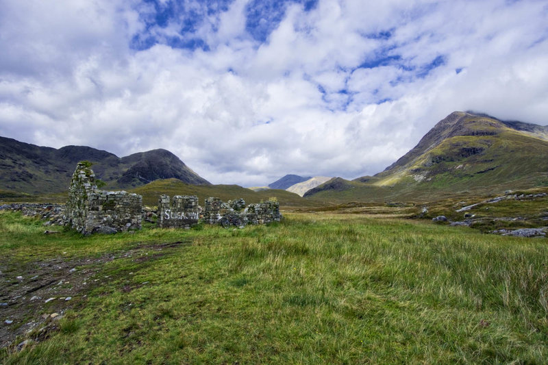 """This is one of the two """"buildings"""" in Camasunary - it does make the path to Sligachan hard to miss."""