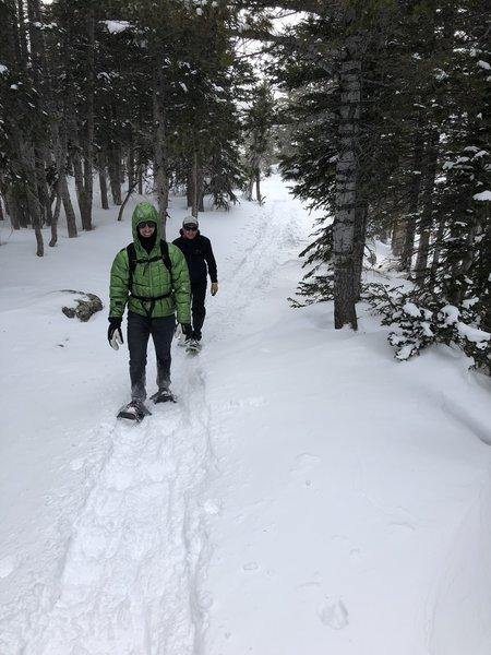 February snowshoe to Brainard Lake