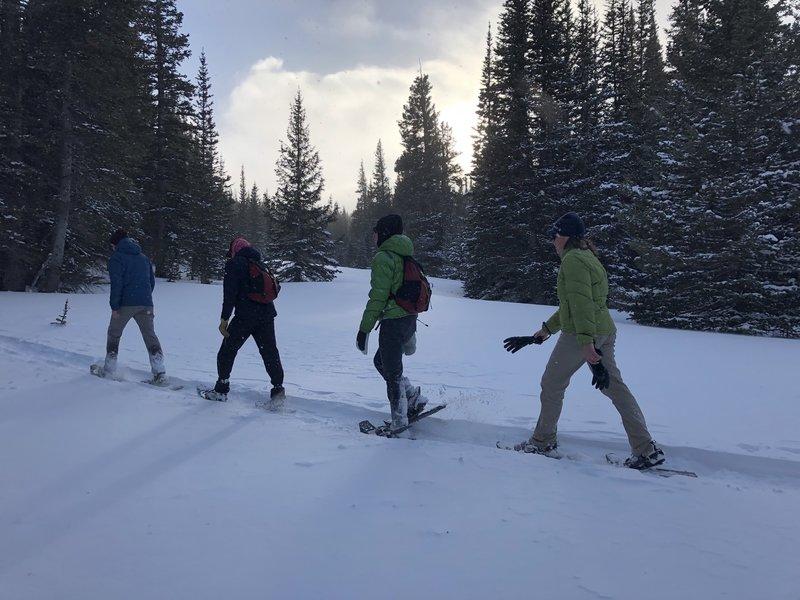Snowshoeing to Brainard Lake