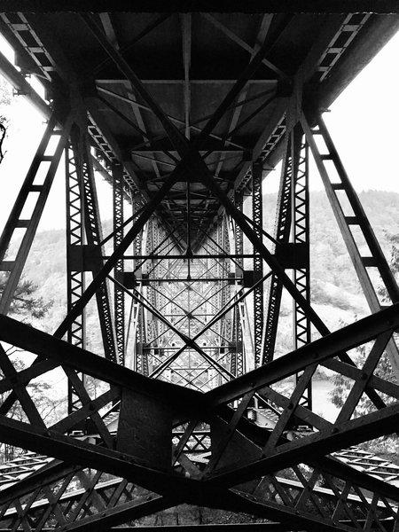 Deception Pass Bridge's underbelly.