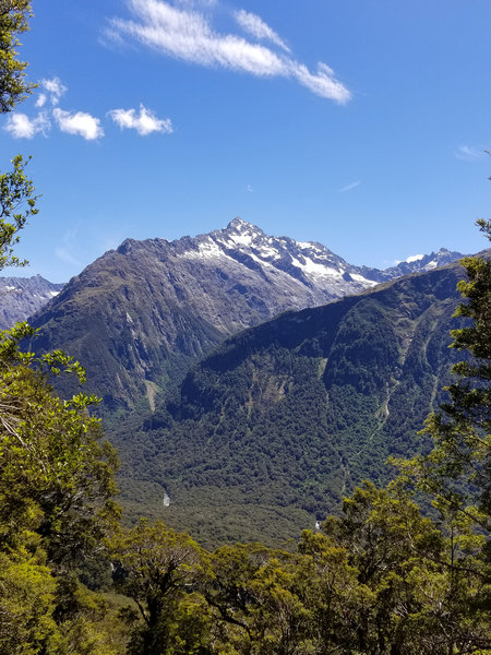 View across the Hollyford Valley from the Routeburn Track