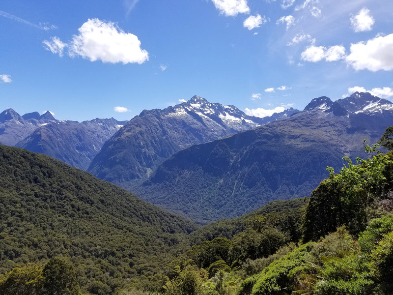 Hollyford Valley from the Routeburn Track
