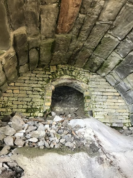 This is the mouth to the Lime Kiln.