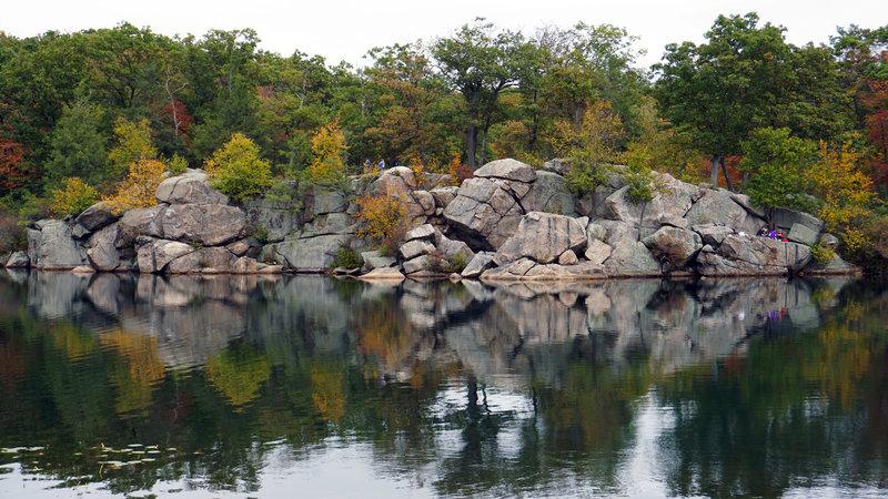 Rocks on Pine Meadow Lake