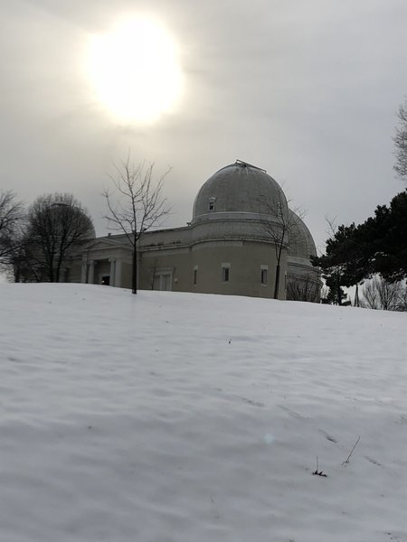Allegheny Observatory in the snow