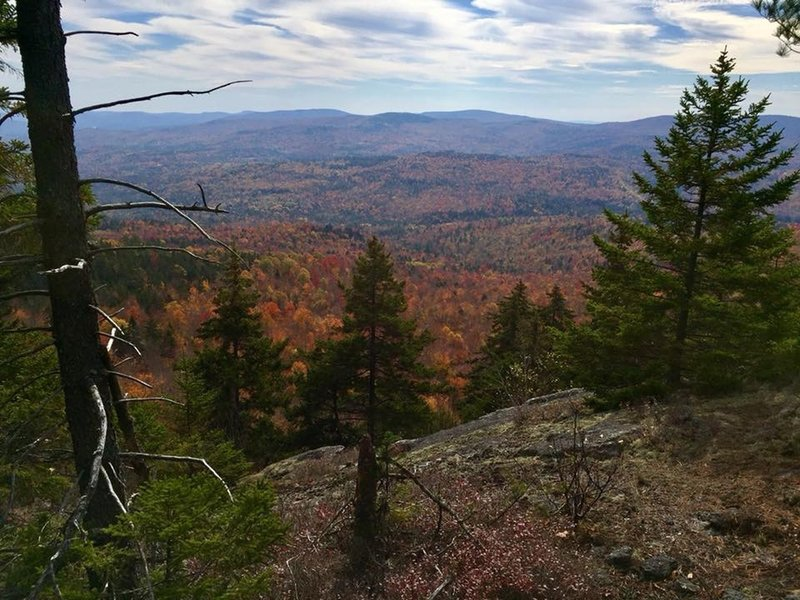 Looking south from one of the last outlooks before heading into the hardwood forests and blighted logging areas before reaching Bear Mtn.