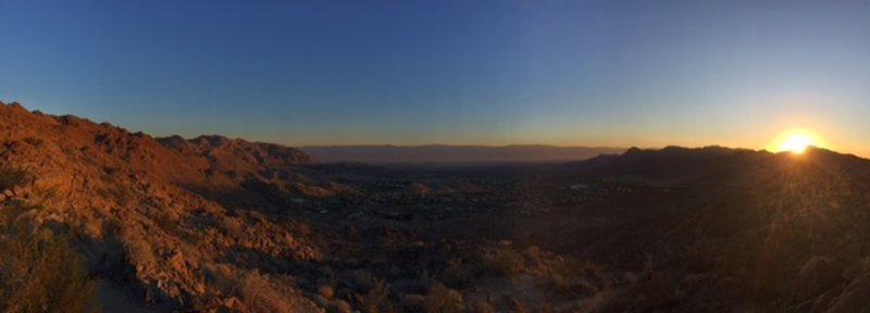 Looking north over the Cahuilla Hills of Palm Desert.