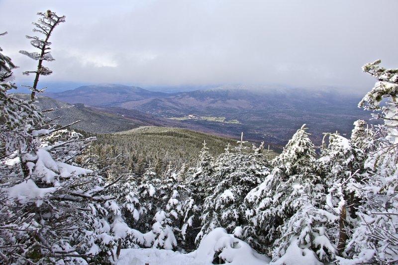 View of Mount Washington resort from Mount Tom