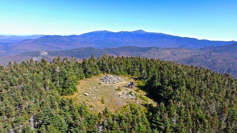 Summit view of Mount Hale via Drone