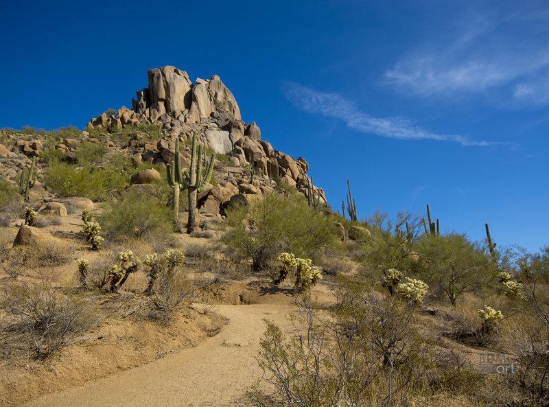 View of Pinnacle Peak, Carefree, AZ