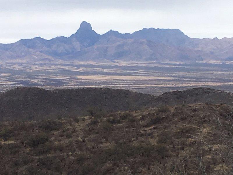 On top of El Cerro looking to the west.