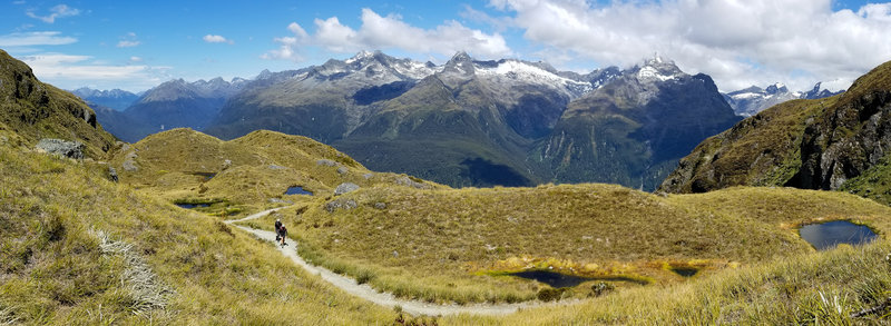View from Harris Shelter into the heart of Fiordland National Park