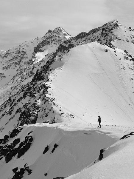From the summit of Flattop. Chugach Mountains, Alaska.