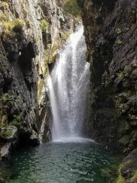 Lower part of Routeburn Falls