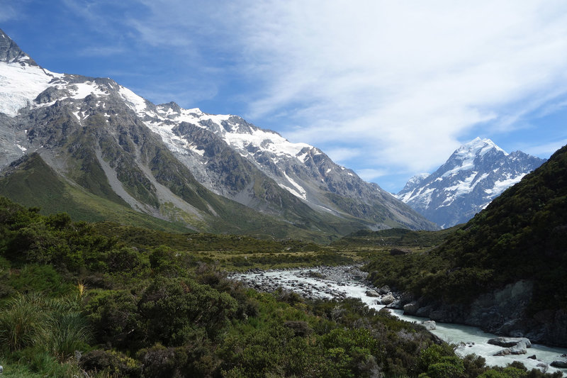 Hooker Valley with Mt. Cook at the right