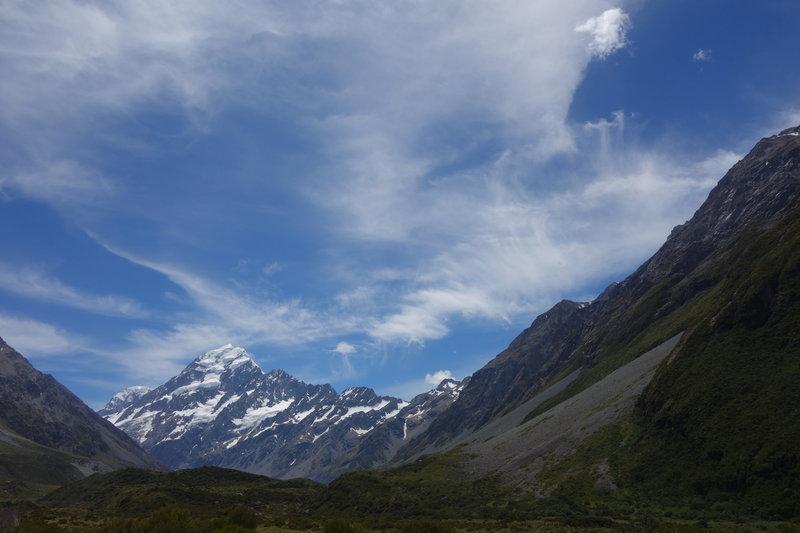 Mt. Cook under a big dreamy sky