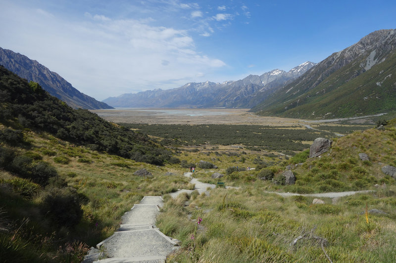 Mt. Cook valley viewed from the Tasman Lake Track