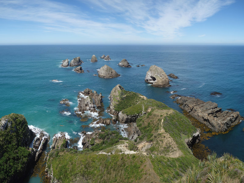 Panoramic view from Nugget Point Lighthouse