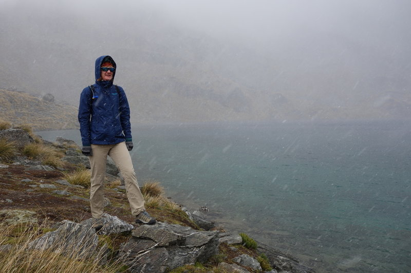 Hiker at Lake Alta caught in January snow flurries