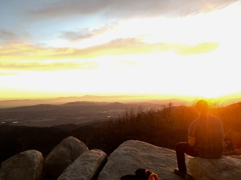 Sunset from Mill Peak.