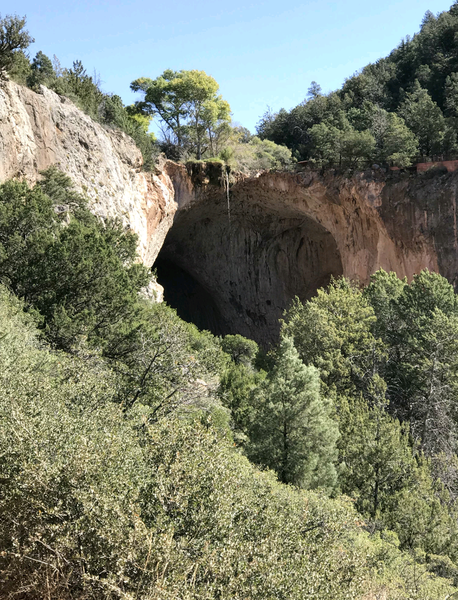 The top part of the natural bridge