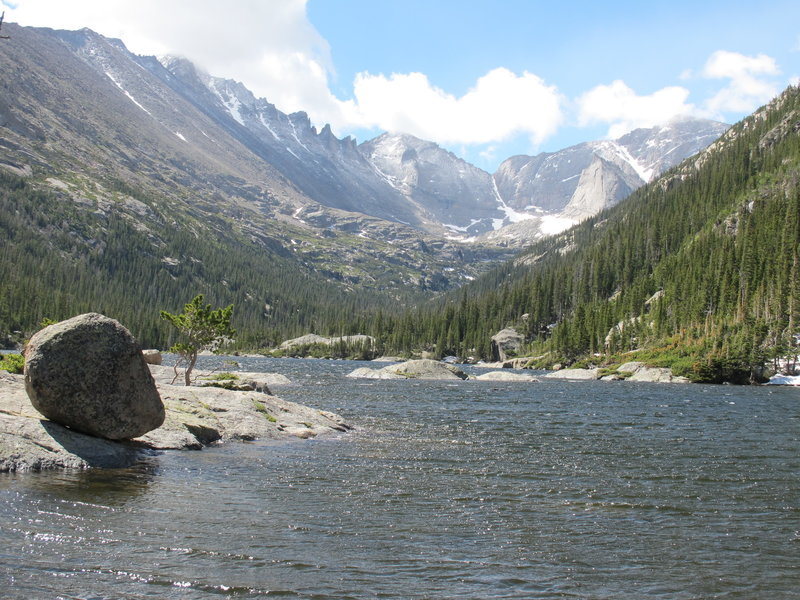 Spectacular view of Mills Lake on the way to Black Lake