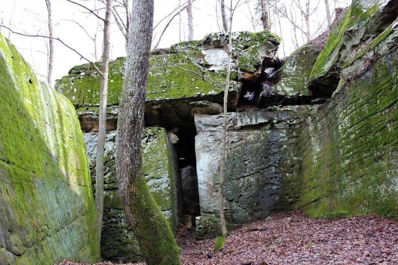 Trail through the rock