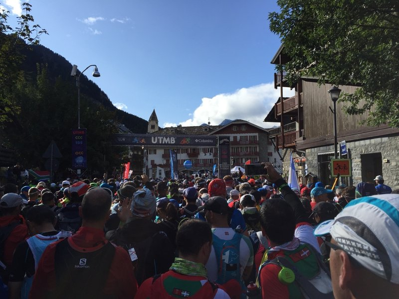 Start of the CCC in Courmayeur, Italy
