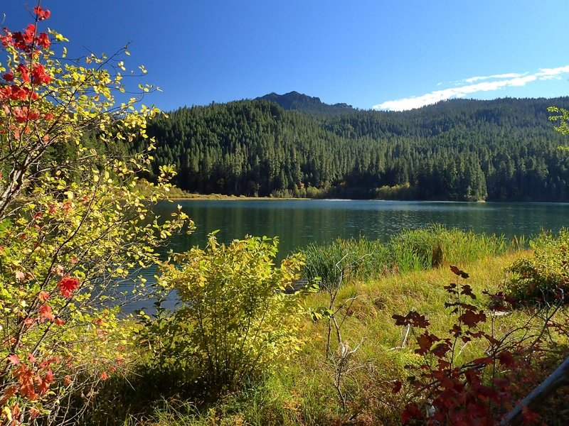 Highrock Mountain from Fish Lake in the Fall