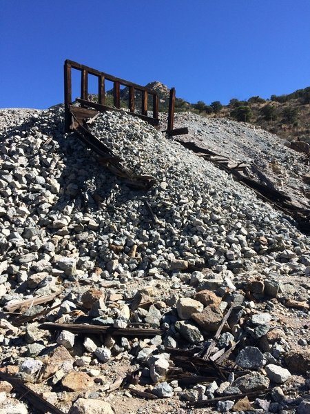 Buried Quantrell Mine entrance.