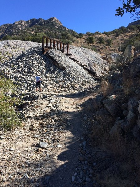 Trail approaching the old mine entrance.