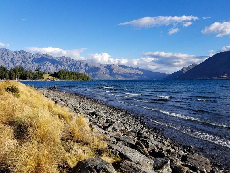 Lake Wakatipu from Queenstown Gardens