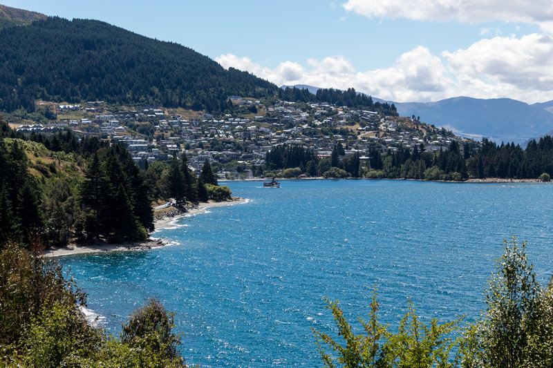 Queenstown from Sunshine Bay Track