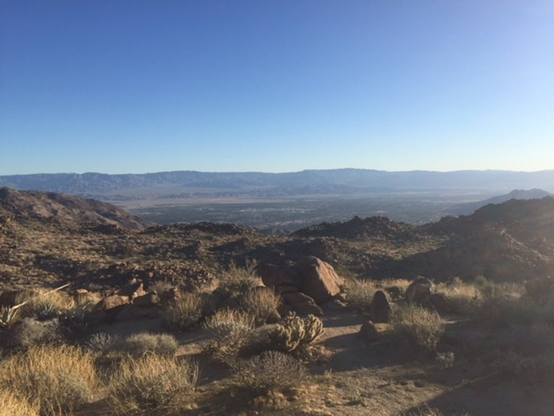 View to the north of Palm Desert. There was Verizon cell phone service here.