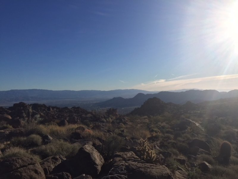 View east overlooking Palm Desert. There was Verizon cell phone service here.