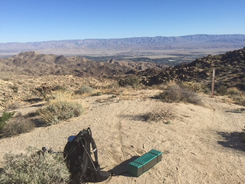 Looking north over the Coachella Valley.  This is a great stop for a break and it did have cell phone service.