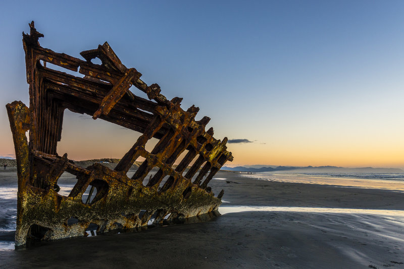 What's left of the Peter Iredale.